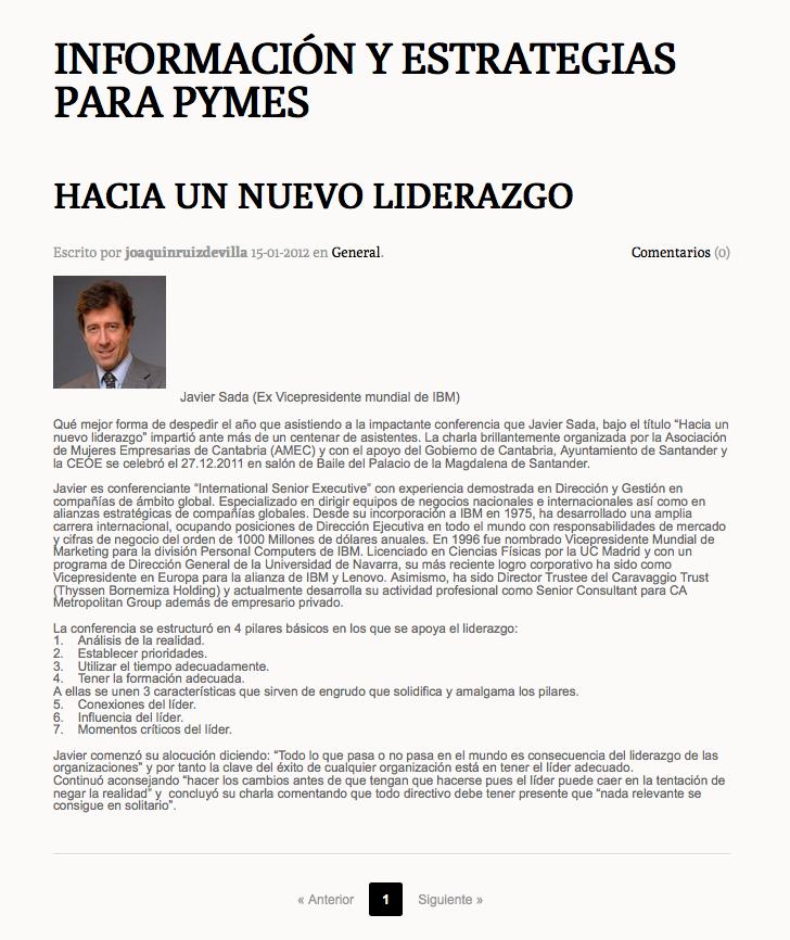 Javier Sada, en Blogdiario.com