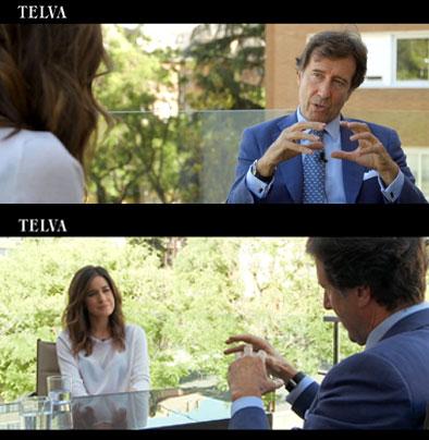 Javier Sada, entrevistado por Isabel Jiménez para TELVA